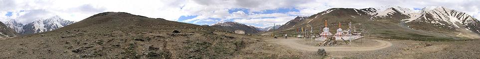 Spiti Inde panorama Rohtang Kuzum-La