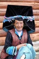 Yunnan Hongqiao Ninglang old Black Yi  lady portrait
